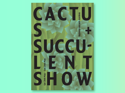 Cactus + Succulent Show Poster print graphic design type design cactus illustration type poster typography