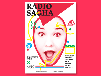 Radio Sagha Poster print graphic design type design stanley colours illustration type poster typography