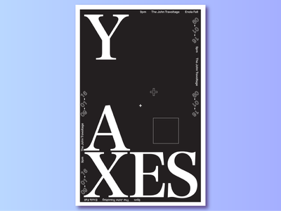 Y-Axes Poster  print graphic design type design black and white type poster typography