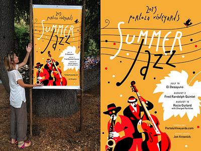 Summer Jazz Poster 2015d portola illustration jazz poster