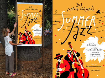 Summer Jazz Poster 2015d portola illustration jazz poster