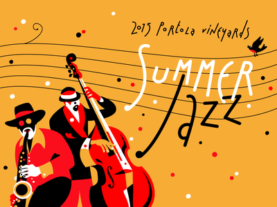 Summer Jazz Postcard jazz portola illustration
