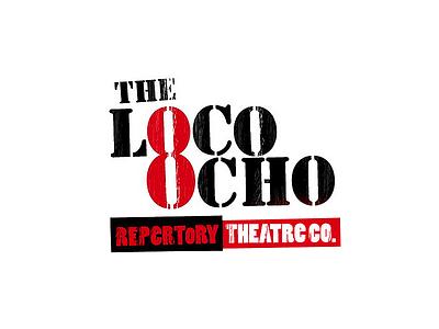 Loco Ocho Repertory Theatre Co typography logo