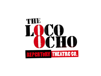 Loco Ocho Repertory Theatre Co typography logo
