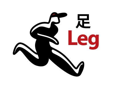 Leg Drib kanji japanese kanjipictographix leg