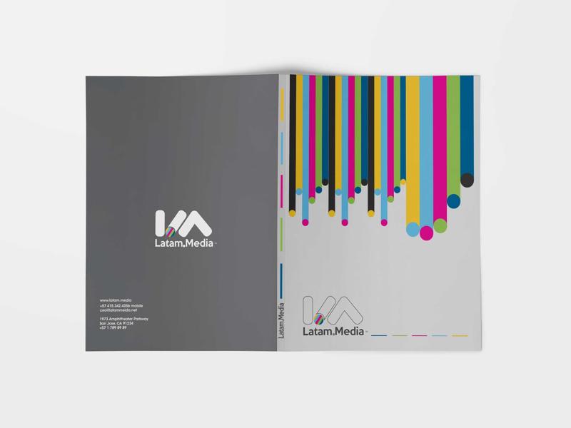 Latam Media branding logo print