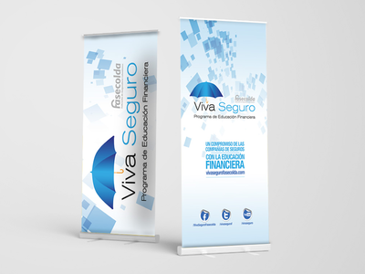 Graphic identity for financial educational program / roll up .