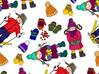 Christmas cards in children's style