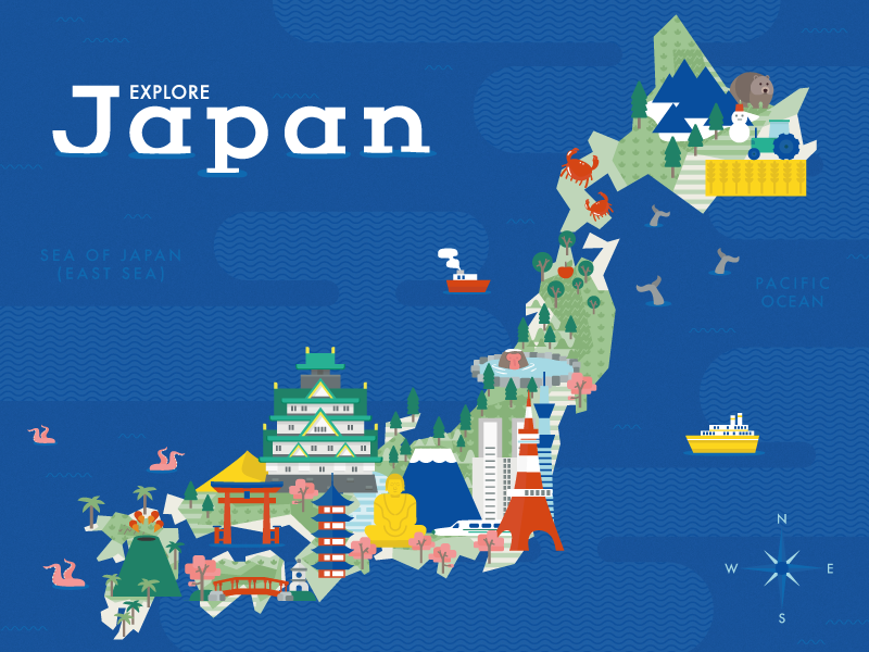 Explore Japan by Erin on Dribbble