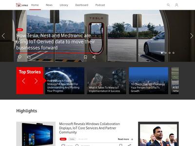 Vodafone News Website Concept