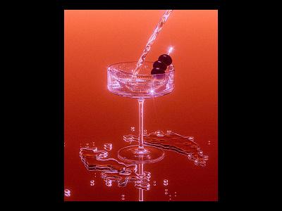 Cocktail spirits cg 3d retro alcohol design illustration food maxon xparticles beverage render c4d cinema4d cocktail