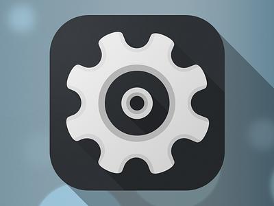 Settings flat ios7 settings icon gear iphone ios