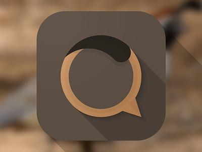 Quial Icon icon ios7 ios longshadows q quial