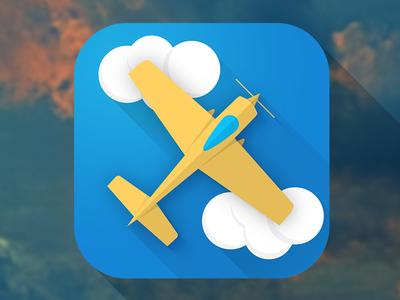 Plane plane icon ios simple airplane cloud app flat ios7
