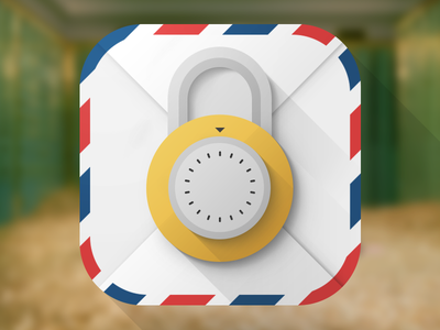 CryptoMailer icon mail lock icon ios