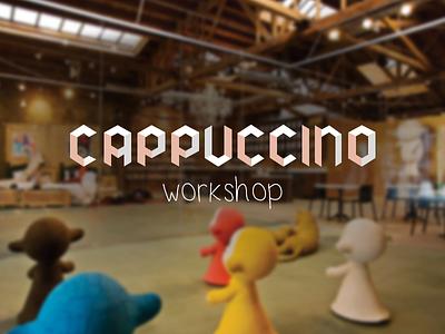 Cappuccino logotype logo type font isometric