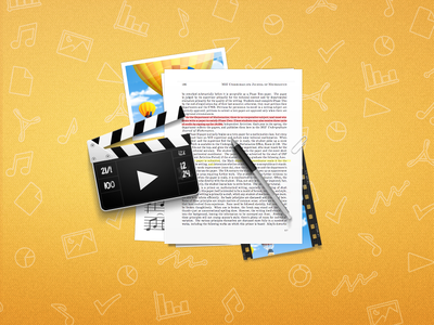 Site illustration illustration icon paper clipper readdle documents app application apple ipad pen