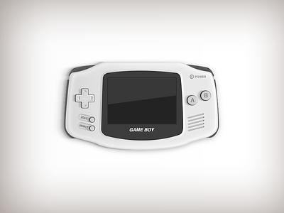 Game Boy Advance vintage controls interface icon console gameboy illustration 32bit nintendo game boy advance