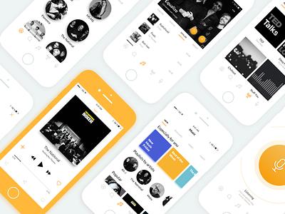 Music App for iOS iphone8 ui music app ios player sketch