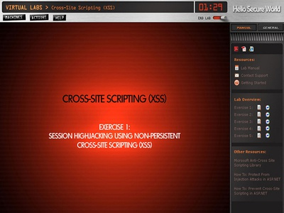 Secure World Webcast Content Screen