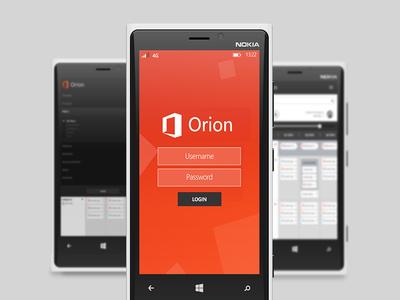 Orion Login Mobile