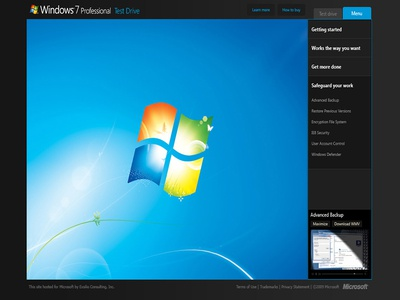 Windows 7 Walk-through Interface