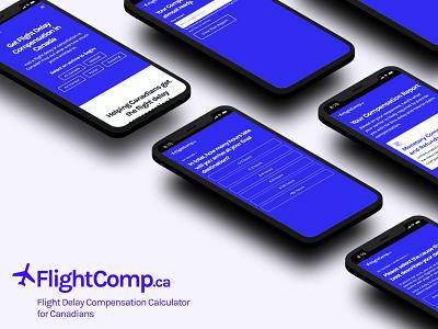 FlightComp.ca web app web design uxui ux mobile