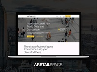 ARetailSpace Design Project real estate proptech app design web design