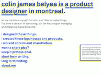 Brutalist Personal Portfolio Website Design