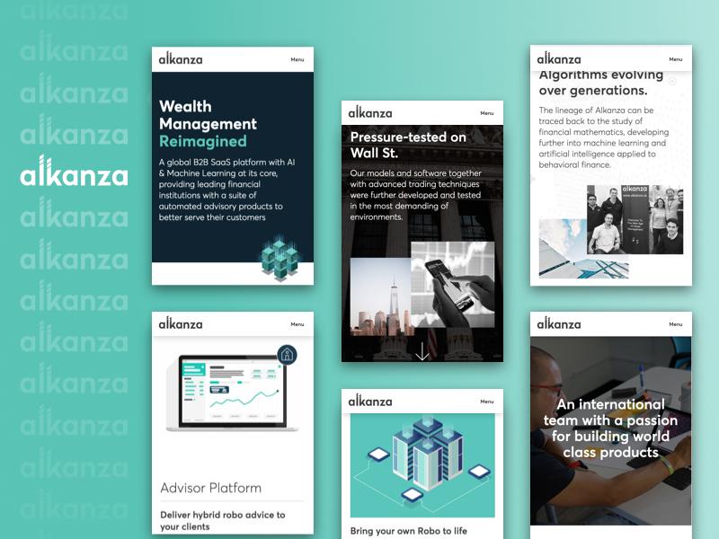 Alkanza Web Redesign mobile webflow web design design