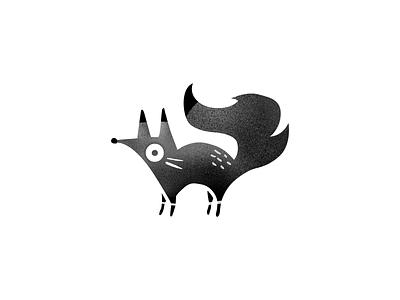 Fox Logo illustration texture black and white animal fox logo