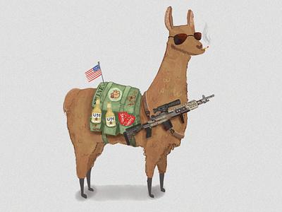 Come get some. beer skittles cigarette smoke sunglasses gun blood sweat and tears backpack twitch dayz swine animal american flag badass llama