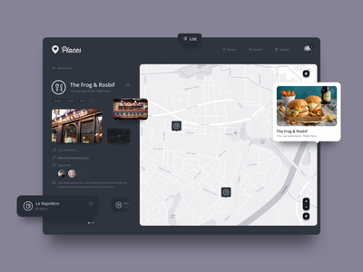 Places user interface uidesign saas ap saas app maps web app detail icons icon product design map dashboard app dashboard design dashboard ui dashboad ux design ui design ux ui interface