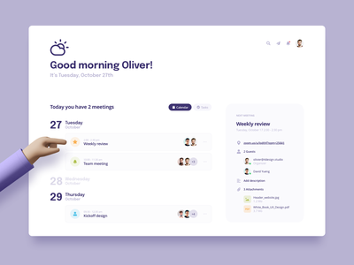Dashboard Meeting redesigned redesign clean ui clean schedule calendar design dashboard design saas ui design design meeting calendar app calendar ui list calendar weather ux ui dashboard ui dasboard