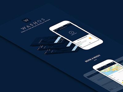 Washos // Presentation flat design paris freelance ios app mobile interface ui ux seempl studio