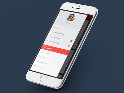 Mieux Vaut Prévenir // Menu flatdesign paris mobile freelance ios app ux interface ui seempl studio