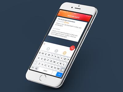 Mieux Vaut Prévenir // Suivi de santé flatdesign paris freelance ux mobile ios app interface ui seempl studio