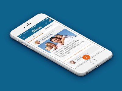 Famileo // Wall ux ui seempl studio paris mobile ios interface freelance flatdesign app