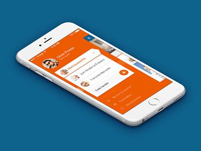 Famileo // Menu ux ui studio seempl paris mobile ios interface freelance flatdesign app