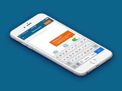 Famileo // New message ux ui studio seempl paris mobile ios interface freelance flatdesign app