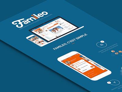 Famileo design app application mobile user experience seempl studio paris ux ui interface feelance flatdesign app