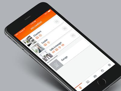 Kiwatch // Mes caméras app application mobile design app feelance flatdesign interface paris seempl studio ui user experience ux