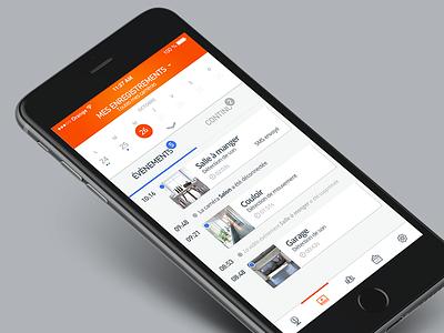 Kiwatch // Mes enregistrements vidéos seempl studio paris freelance flat design design mobile application mobile app ux ui