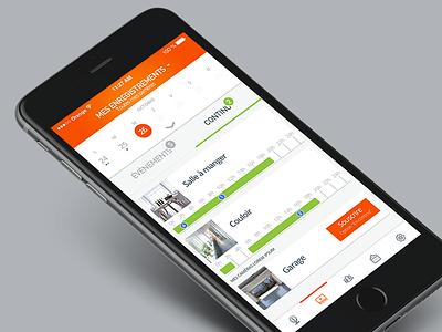 Kiwatch // Mes enregistrements application application mobile app mobile design freelance paris seempl studio ux ui mobile app