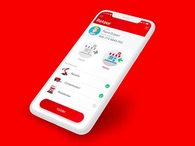 Loxam // Retour paris freelance iphone mobile ios ux app interface ui seempl studio