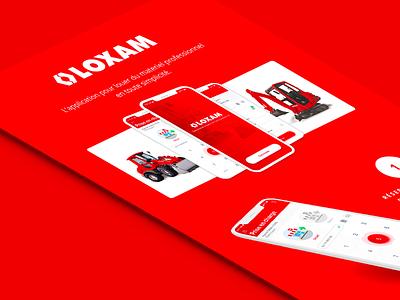 Loxam seempl studio mobile app paris mobile iphone ios interace freelance app