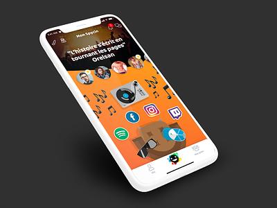 Spycin // Mon Spycin custom paris freelance iphone mobile ux ios app ui interface seempl studio
