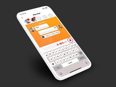 Spycin // Chat logo paris freelance iphone mobile ux ios app interface ui seempl studio