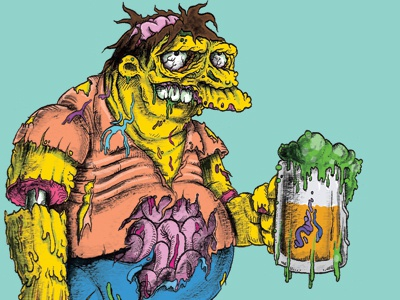 Don't cry for me, I'm already dead comics undead zombie beer barney the simpsons