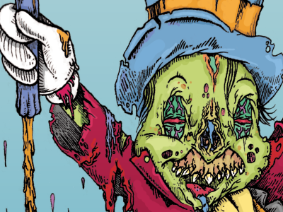 A fine conscience I turned out to be zombie pen and ink illustration cricket conscience